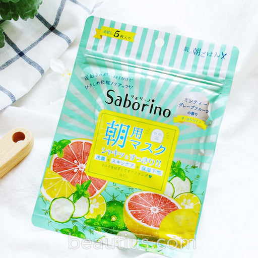 Saborino Wake Up Morning Sheet Mask - Grapefruits Pore Minimizing
