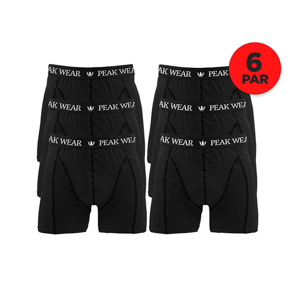 6 Par Peak Wear Boxershorts - Sort
