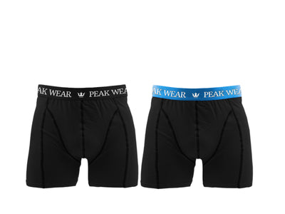 2 Par Peak Wear Boxershorts Sort/Blå