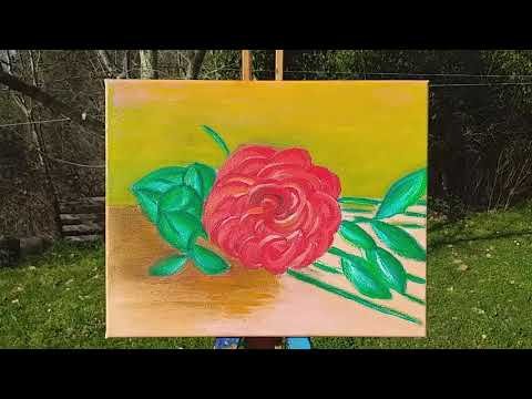 Rosa nostalgica, acrylic painting on canvas