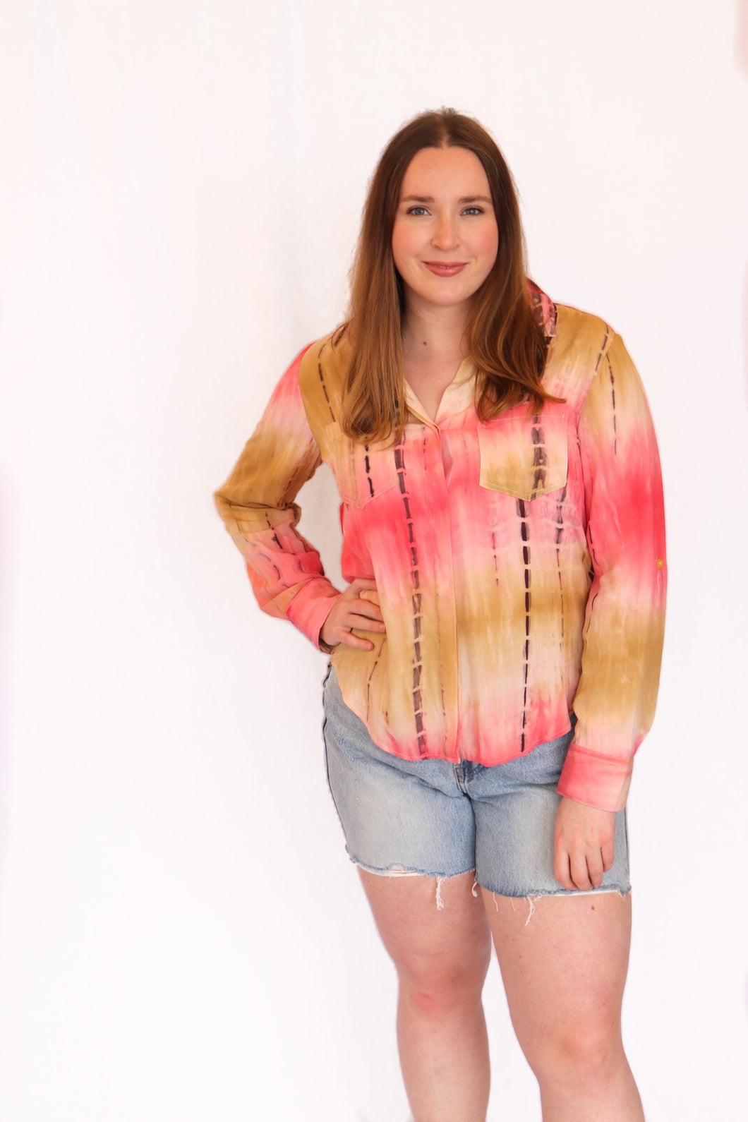 Tie-Dye Riley Buttondown