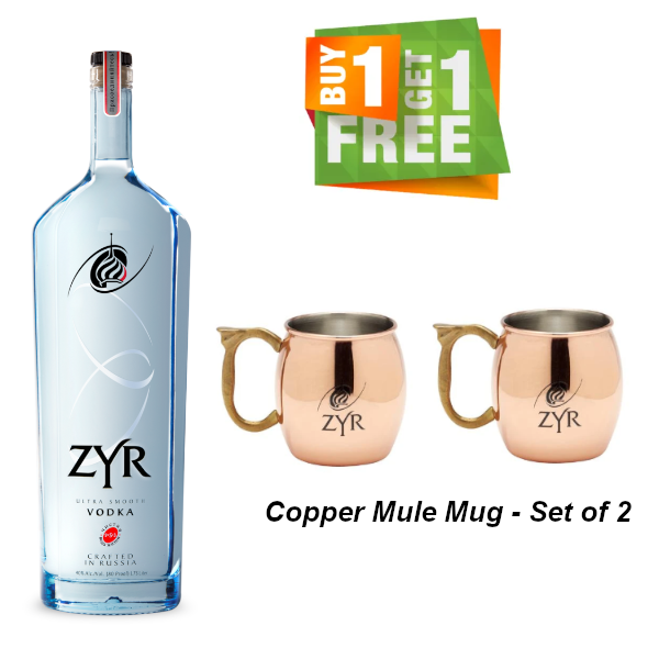 Zyr Vodka 1.75L (With Free Gift)