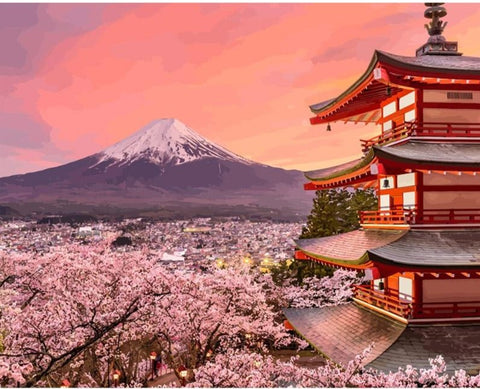 MOUNT FUJI DIY PAINT BY NUMBERS MOUNTAINS
