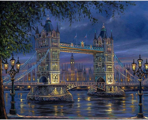 Abstract Paint by Numbers London Landscape Painting