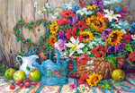 Colourful Flower Bouquet Painting by Numbers