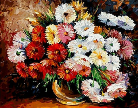 Flower Bouquet Acrylic Painting