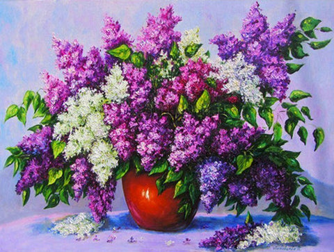 Lilac Bouquet Paint by Numbers Flowers