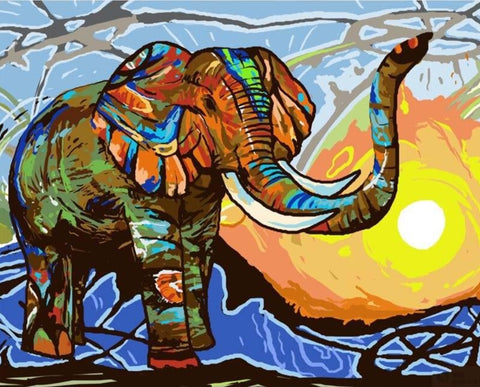 Paint by Numbers Elephant Children's Paint by Numbers Online