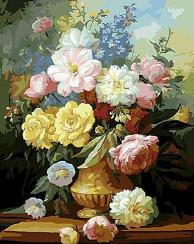 Paint by Numbers Flowers for Adults