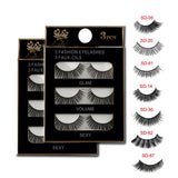 3 Pair NEW False Eyelashes Thick Voluminous luminous eyeshadow voluminous eyeshadow - Princesas del maquillaje