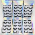 3D Eyelashes Wispy Cross 5 Pairs, visofree 3d mink lashes - Princesas del maquillaje
