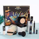 Cellacity  Basic Make Up Set Cosmetics Kit Foundation,loose Powder,eyeliner, Lipstick,concealer And Gift Box Women Gifts - Princesas del maquillaje