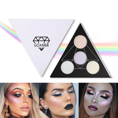 UCANBE Brand Face 4 Colors Highlighter - Princesas del maquillaje