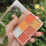 6 Color Mashed Potato Eyeshadow Palette - Princesas del maquillaje