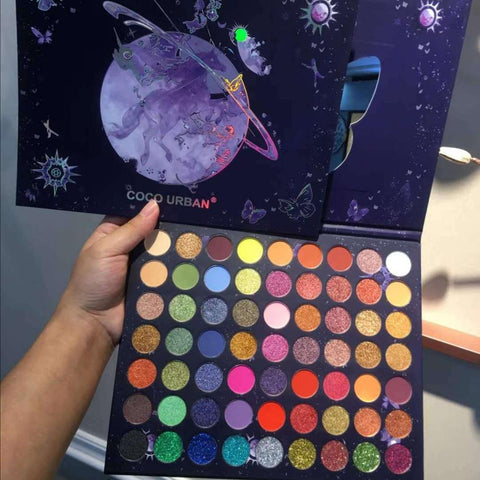 Robot Unicorn Attack 63 Colors Eye Shadow Palette Glitter Matte Pigment Eyeshadow Loose Powder Luxury Quality Eyeshadow pallete - Princesas del maquillaje