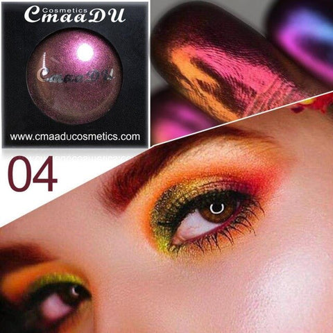 1PCS Multichrome Shade Shifting Pigments Metallic Glitter Chameleon Eyeshadow Shiny Smokey Eye Shadow - Princesas del maquillaje