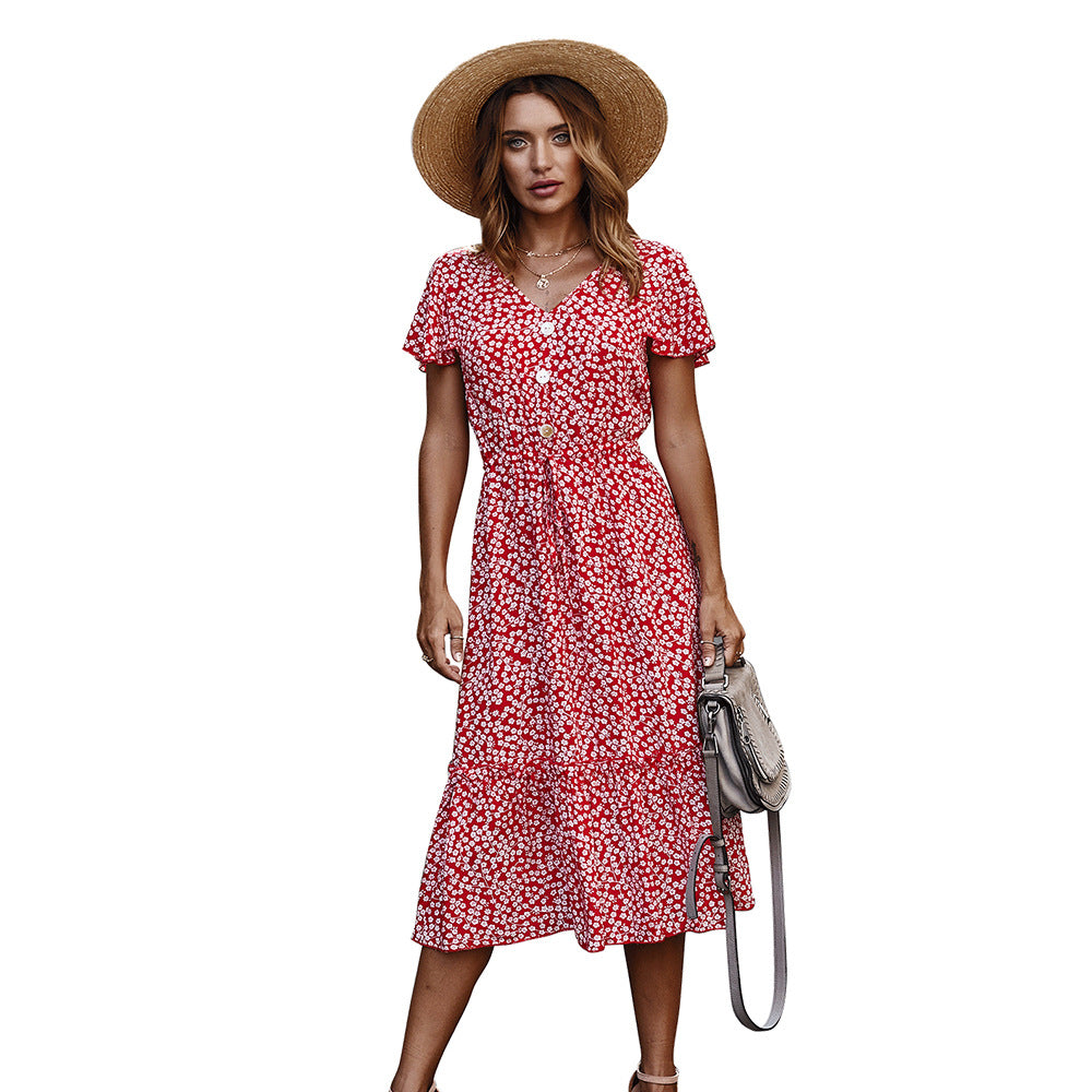 Za dress women vintage floral print square collar dresses mid-calf sheath A-line female dresses summer mujer vestidos