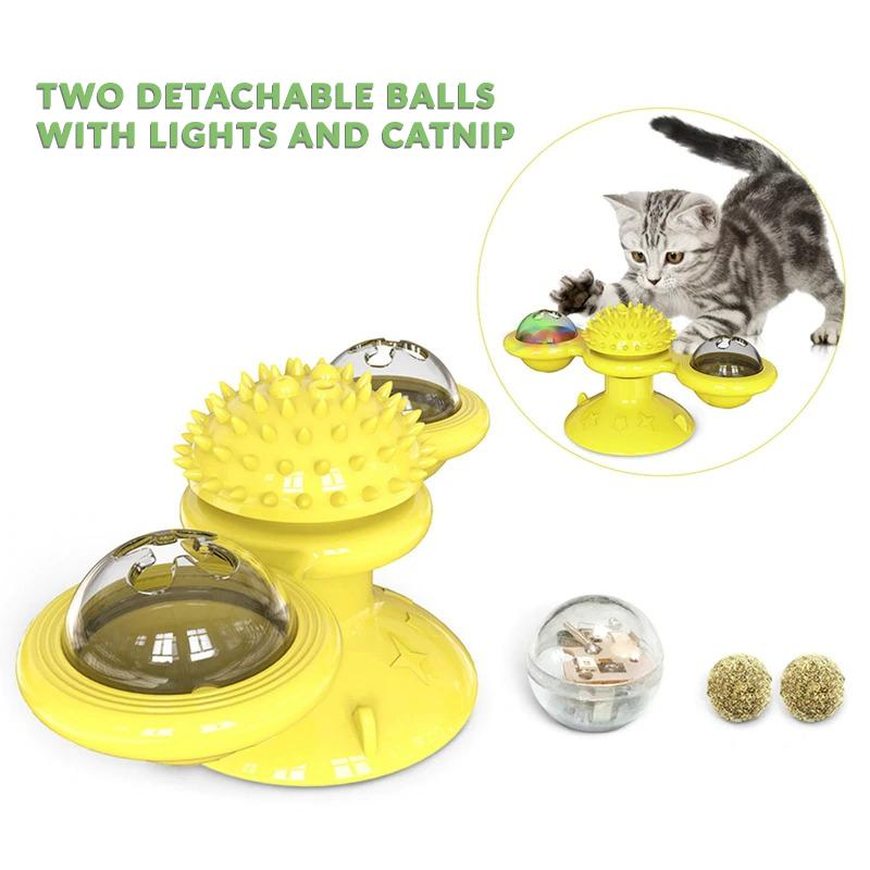 Windmill Cat Toy 5-in-1。Two pieces, free shipping