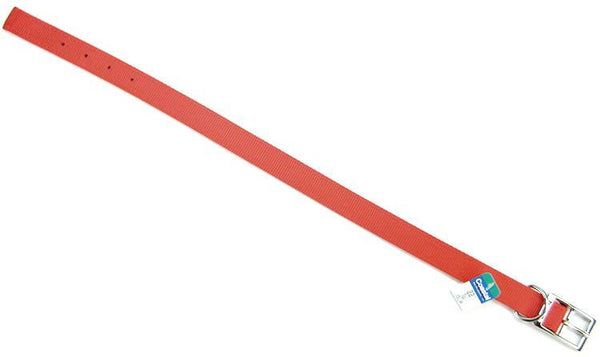 "Coastal Pet Double Nylon Collar - Red 22"" Long x 1"" Wide"