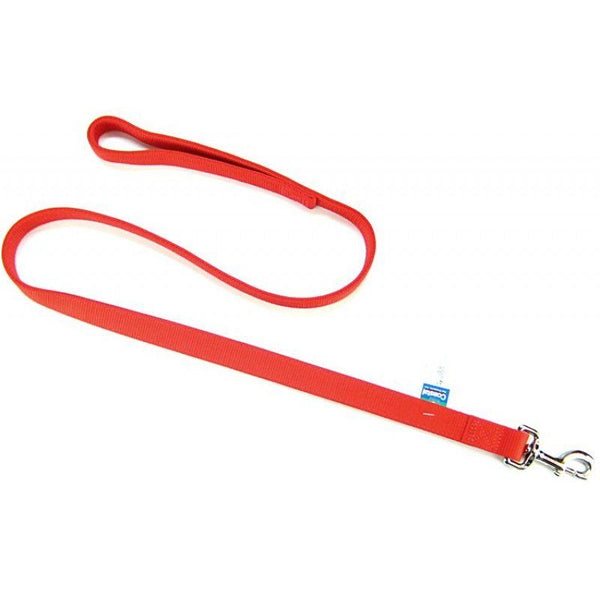 "Coastal Pet Double Nylon Lead - Red 48"" Long x 1"" Wide"