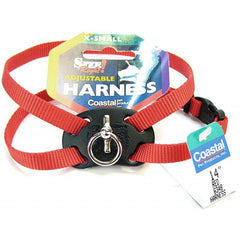 "Coastal Pet Size Right Nylon Adjustable Harness - Red X-Small - (Girth Size 10""-18"")"