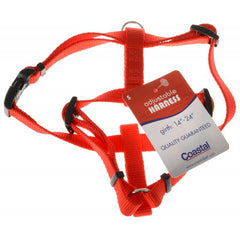 "Tuff Collar Nylon Adjustable Harness - Red Small (Girth Size 14""-24"")"