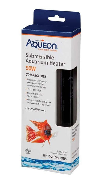 Aqueon Submersible Aquarium Heater 50 Watt