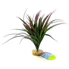 "Blue Ribbon Amazonian Plant with Gravel Base Plum 10"" Tall"