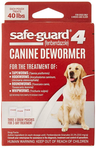 8 in 1 Pet Products Safe-Guard 4 Canine Dewormer Large Dog - (3 x 4 Grams)