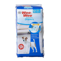 "Four Paws Wee Wee Diapers for Dogs 12 Pack - Small (Dogs 8-15 lbs with 13""-19""Waist)"