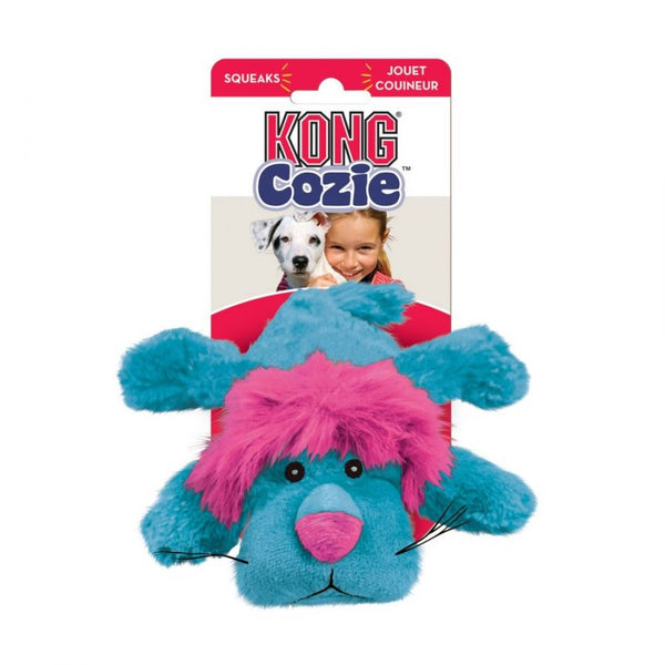 Kong Cozie Plush Toy - Small Lion Dog Toy