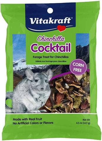 Vitakraft Chinchilla Cocktail Forage Treat Made With Real Fruit 4.50 oz