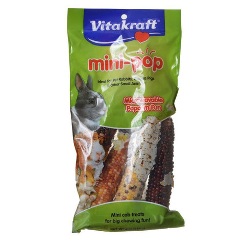 VitaKraft Mini-Pop Small Animal Popcorn Treat 6 oz