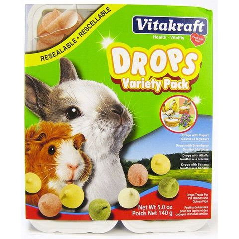 VitaKraft Drops Variety Pack for Small Animals 5 oz