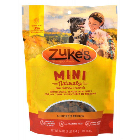 Zukes Mini Naturals Dog Treat - Roasted Chicken Recipe 1 lb