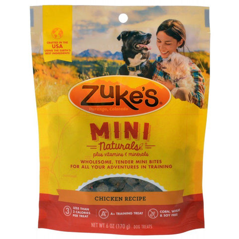 Zukes Mini Naturals Dog Treat - Roasted Chicken Recipe 6 oz