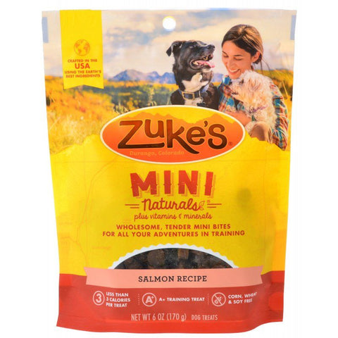 Zukes Mini Naturals Dog Treat - Savory Salmon Recipe 6 oz