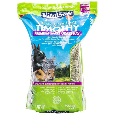 Vitakraft Fresh & Natural Timothy Premium Sweet Grass Hay 28 oz