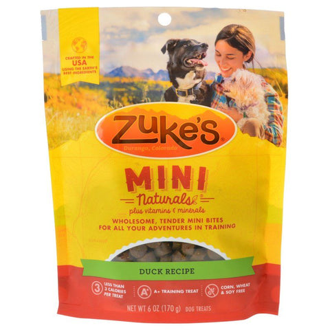 Zuke's Mini Naturals Moist Dog Treats - Delicious Duck Recipe 6 oz