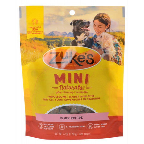 Zuke's Mini Naturals Moist Dog Treats - Roasted Pork Recipe 6 oz