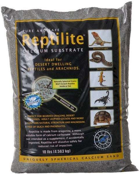 Blue Iguana Reptilite Calcium Substrate for Reptiles - Smokey Sands 40 lbs - (4 x 10 lb Bags)