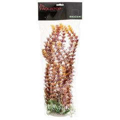 "Aquatop Cabomba Aquarium Plant - Fire 20"" High w/ Weighted Base"