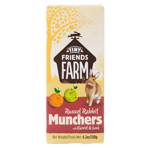Tiny Friends Farm Russel Rabbit Munchers with Carrot & Leek 4.2 oz