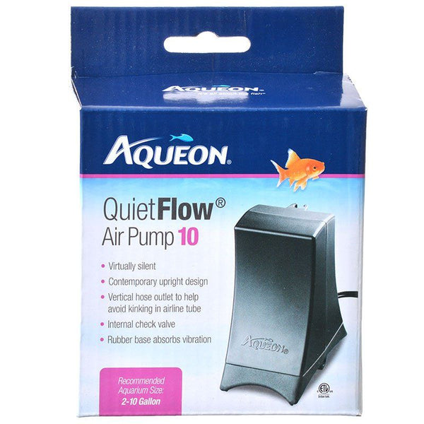 Aqueon QuietFlow Air Pump Air Pump 10 - (2-10 Gallon Aquariums)