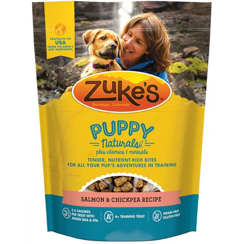 Zukes Puppy Naturals Dog Treats - Salmon & Chickpea Recipe 5 oz