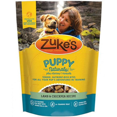 Zukes Puppy Naturals Dog Treats - Lamb & Chickpea Recipe 5 oz