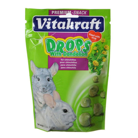 Vitakraft Drops with Dandelion for Chinchillas 5.3 oz