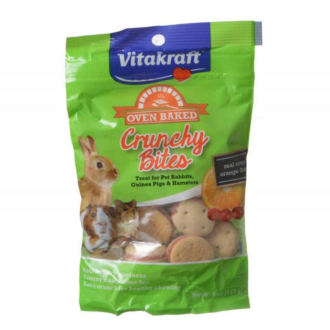 Vitakraft Oven Baked Crunchy Bites Small Pet Treats - Real Cran-Orange Flavor 4 oz