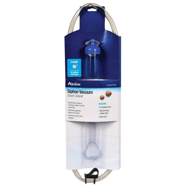 "Aqueon Siphon Vacuum Gravel Cleaner Large - 10"" Tube with 6' Hose - (Aquariums 20-55 Gallons)"
