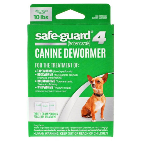 8 in 1 Pet Products Safe-Guard 4 Canine Dewormer Small Dog - (3 x 1 Gram)